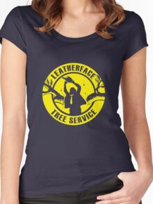 Leatherface Tree Service Women's Fitted Scoop T-Shirt
