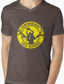 Leatherface Tree Service Mens V-Neck T-Shirt