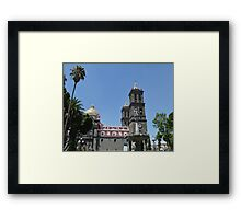 Puebla Cathedral, Mexico Framed Print
