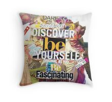 Be Yourself Collage 1 Throw Pillow