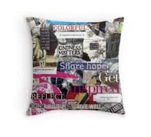 Inspired Collage 4 Throw Pillow
