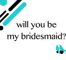 love birds bridesmaid invitation by maydaze