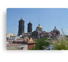 Puebla Cathedral, Mexico View Canvas Print