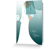 will you ... (wedding party invitations) Greeting Card