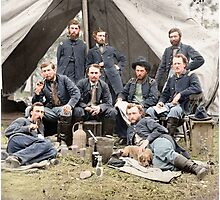 Staff of General Andrew Porter & George A. Custer Photographic Print