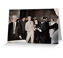 The assassination of Lee Harvey Oswald Greeting Card