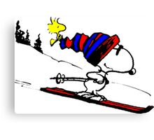 Snoopy and Snow Canvas Print