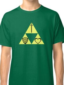 Power. Wisdom. Courage. The Sword. The Shield. The Heart. Classic T-Shirt