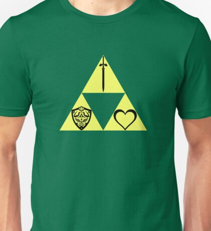 Power. Wisdom. Courage. The Sword. The Shield. The Heart. Unisex T-Shirt