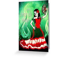 cinco de mayo spanish dancer Greeting Card