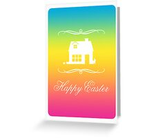 mod happy easter Greeting Card
