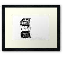 cart trolly caddy buggy art abstract Framed Print