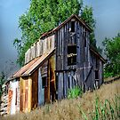 Hillside Barn by JohnDSmith