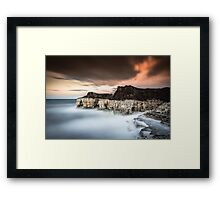 Thornwick Caves Framed Print