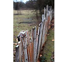 Fence - Hill End Photographic Print