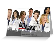 Grey's Anatomy - Most Main Characters Greeting Card