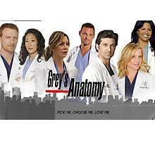 Grey's Anatomy - Most Main Characters Photographic Print