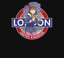 London - Umbrella Girl Unisex T-Shirt