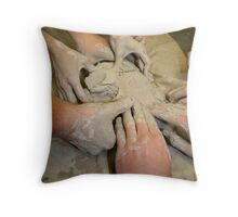 Hands of Clay Throw Pillow