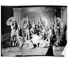 Concert girls photograph - glass negative Poster