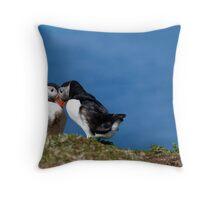 Puffin Love in the Treshnish Isles - Scotland Throw Pillow
