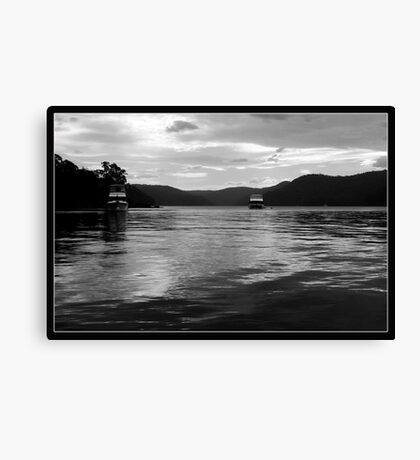 Dark Silver of Ku-ring-gai waters Canvas Print