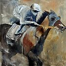 Horse and jockey by calimero