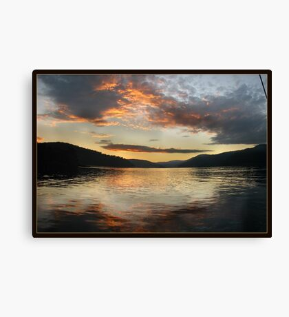 Last sunlight reflections... Canvas Print