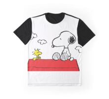Snoopy and Woodstock Together Graphic T-Shirt