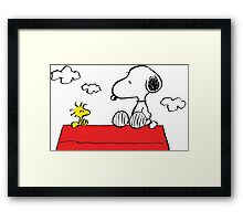 Snoopy and Woodstock Together Framed Print