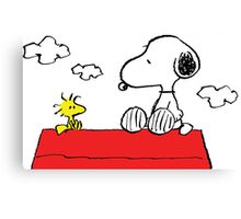Snoopy and Woodstock Together Canvas Print