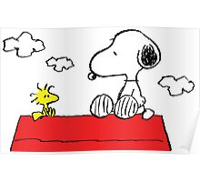 Snoopy and Woodstock Together Poster