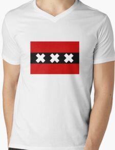 Flag of Amsterdam Mens V-Neck T-Shirt