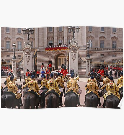 The Queen & Duke of Kent outside Buckingham Palace after Trooping The Colour Poster