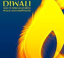 shining light diwali greetings  by maydaze