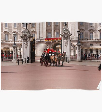Prince Harry, Camilla & Kate leaving the palace for Trooping The Colour Poster