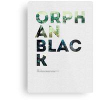 Orphan Black Metal Print