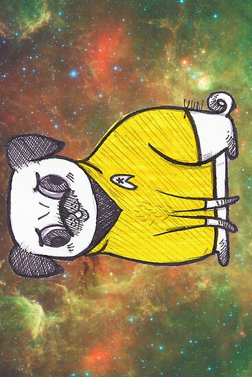 Yellow Shirt - Pug Trek by yunnn
