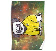 Yellow Shirt - Pug Trek Poster