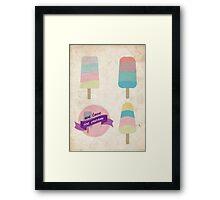 We love ice cream Framed Print