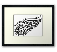 Red wings hockey team Framed Print