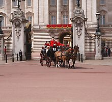 Prince Harry, Camilla & Kate leave the palace for Trooping The Colour by Keith Larby