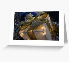 Christmas card with gift box Greeting Card