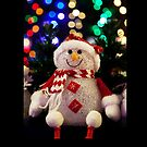 Christmas card with snowman by Cheryl Hall