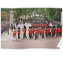 Bandsman marching at Trooping The Colour Poster