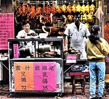 serious sells...fantastic food in Hong Kong by LoveDutchArtEbs