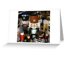 Christmas card with wooden toy soldiers Greeting Card