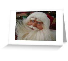 Christmas card with Santa Claus Greeting Card