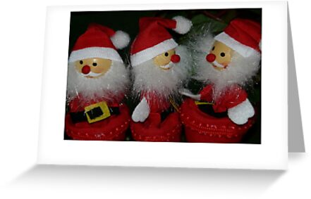 Christmas card with santa claus by Cheryl Hall