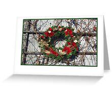 Christmas card with Christmas wreath Greeting Card